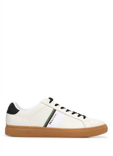 PS by Paul Smith PS Paul Smith  Şerit Detaylı Erkek Deri Sneaker 101549304 Beyaz